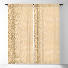 Beautiful champagne gold glitter sparkles Blackout Curtain