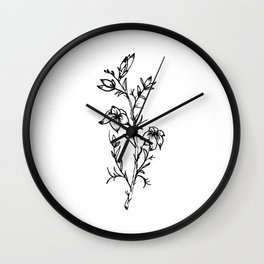 Carolina Jessamine Wildflower Wall Clock