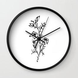 Carolina Jessamine Wildflower Wall Clock
