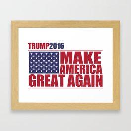 Trump - Make America Great Again Framed Art Print