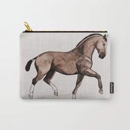 GRONINGEN HORSE - Black brown Carry-All Pouch