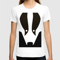badger T-shirts featuring Badger by Christian Bailey