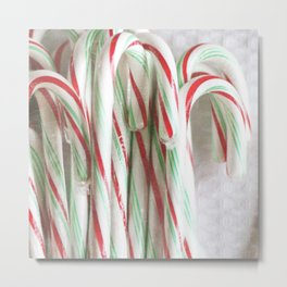 Candy Cane Stash Metal Print