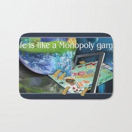 Life is like a Board Game Bath Mat