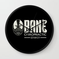 bane Wall Clocks featuring B chiropractic by Buby87