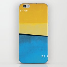 Let it Go. Go surf. iPhone Skin