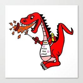BBQ Dragon Canvas Print