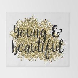 Young & beautiful - golden jazz Throw Blanket