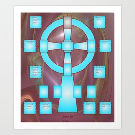 the celtic cross for universal tarot Art Print