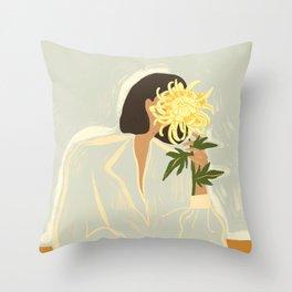 The Chrysanthemum Throw Pillow