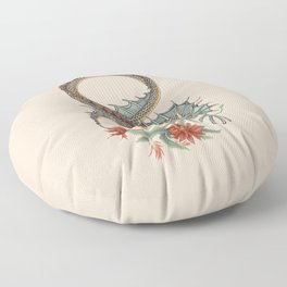 Botanical Flower Dragon 8 Floor Pillow