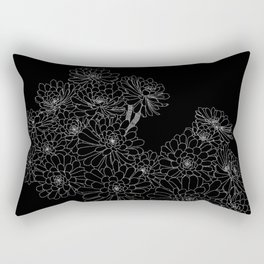 Succulent - Black Background Rectangular Pillow