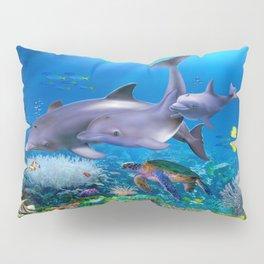 The Dolphin Family Pillow Sham