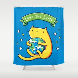 Earth Lover Cat Shower Curtain
