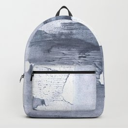 Dark gray nebulous watercolor painting Backpack