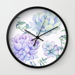 Wonderful Succulents 2 Wall Clock
