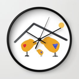 Sunny Family Sweet Home and Boy Wall Clock