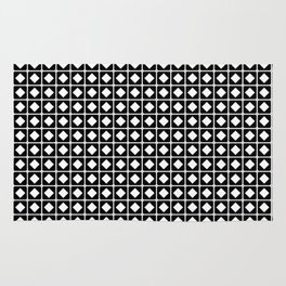 Grid Pattern-Black on White-Mix & Match with Simplicity of life Rug