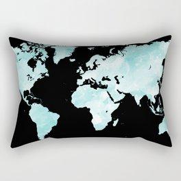 Design 72 world map aqua Rectangular Pillow