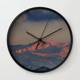 """Tosal Del Cartujo at sunset"". 3152 Meters Wall Clock"