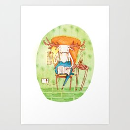 Vern the Moose Art Print