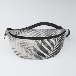 Palm Leaves - Black & White Fanny Pack