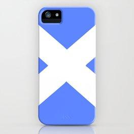 flag of scotland 5– scotland,scot,scottish,Glasgow,Edinburgh,Aberdeen,dundee,uk,cletic,celts,Gaelic iPhone Case