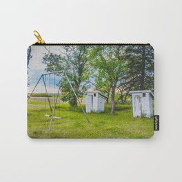 Outhouses and Swingset at the Church, North Dakota 1 Carry-All Pouch