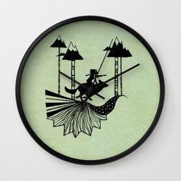Midnight Hunt Wall Clock