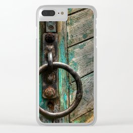 Green Boat at Rest Clear iPhone Case