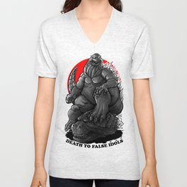GODZILLA : Death To False Idols Unisex V-Neck