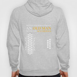 Old Man With An Accordian Print, Accordian Product Hoody