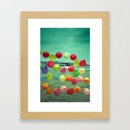 balloons in Istanbul Framed Art Print