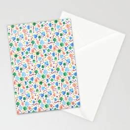 Abstract geometric watercolour  Stationery Cards
