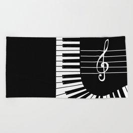 Piano Keys I Beach Towel