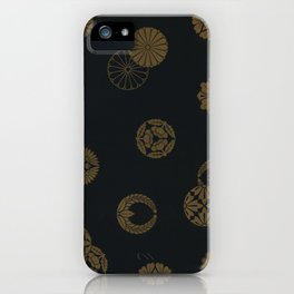 Japenese Black and Gold iPhone Case