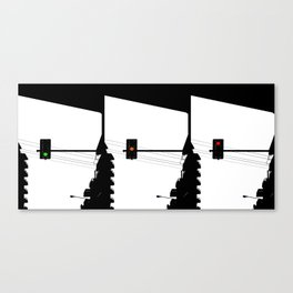 Traffic lights sequence Canvas Print