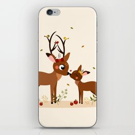 Bisou ma biche iPhone Skin