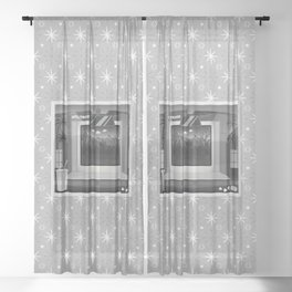Drive-in: Plan 9 from Outer Space Sheer Curtain