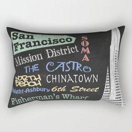 San Francisco Tourism Poster Rectangular Pillow
