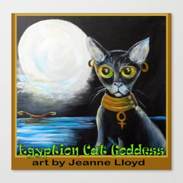 Egyptian Cat Goddess Canvas Print