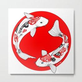 Japanese Kois Metal Print