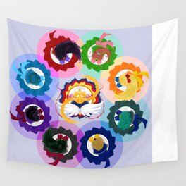 Spinning Senshi - Eternal + Supers Wall Tapestry