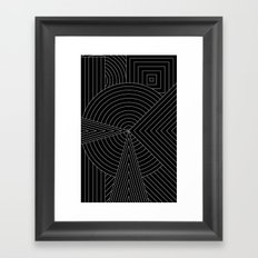 Black White Framed Art Print
