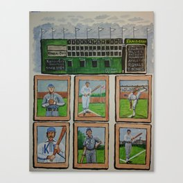 Kansas City Baseball Since 1884 Canvas Print