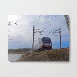 Riding The Rails Metal Print