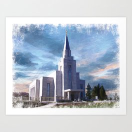 Vancouver British Columbia LDS Temple Art Print