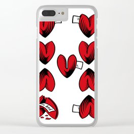 Delicious Deck: The Nine of Hearts Clear iPhone Case