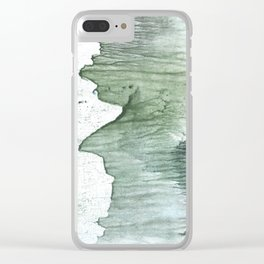Silvery green Clear iPhone Case