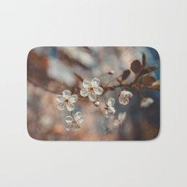 Spring Cherry Sakura White Flowers, Toning Bath Mat